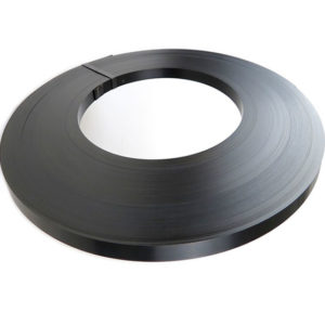 ribbon wound steel strap black paint